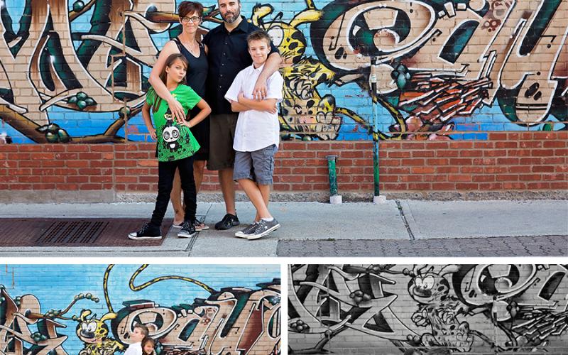 Séance photo famille – les ruelles de Montréal